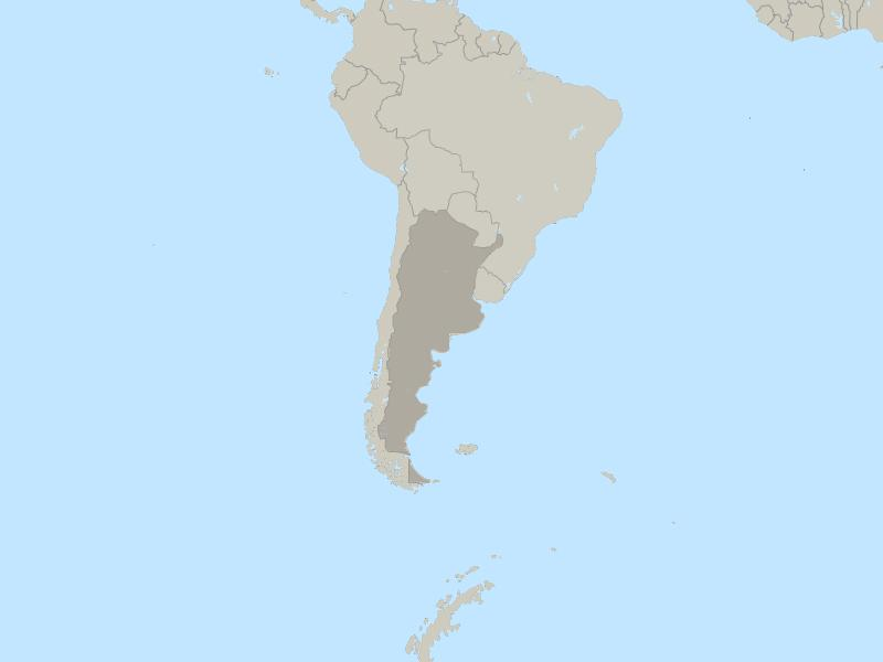 Argentina country page map
