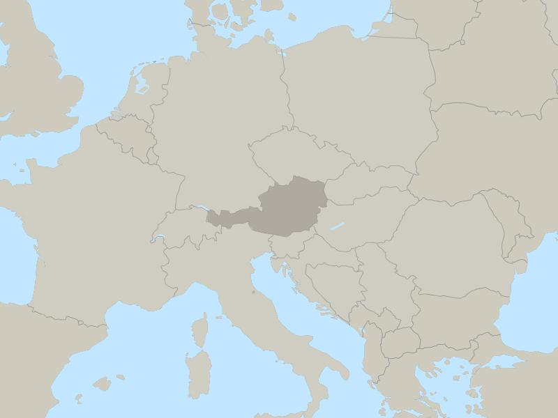 Austria country page map