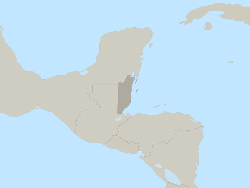 Belize country page map
