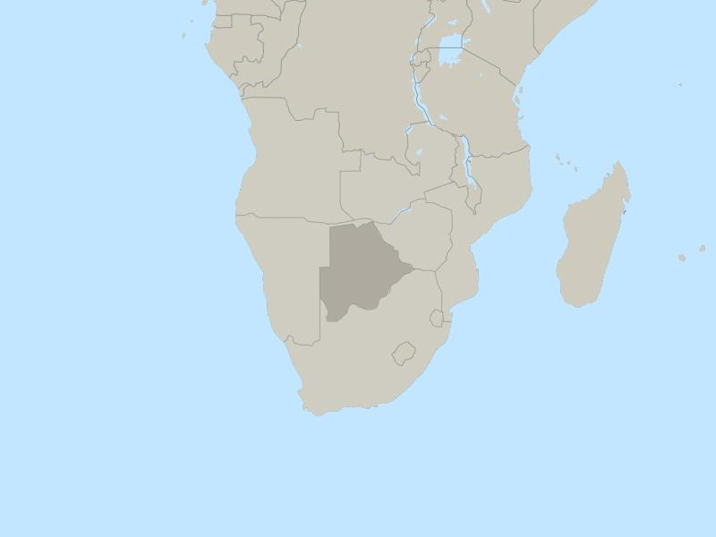 Botswana country page map