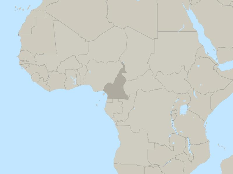 Cameroon country page map