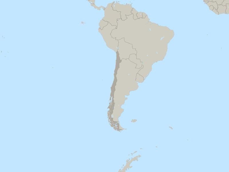 Chile country page map