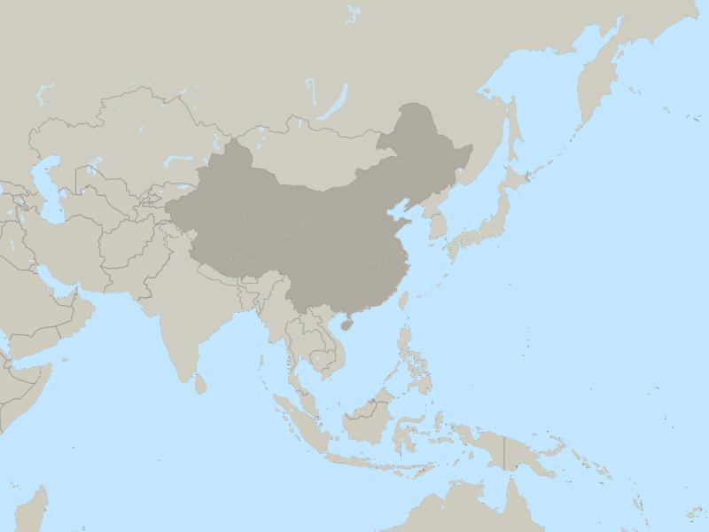 China and Tibet country page map