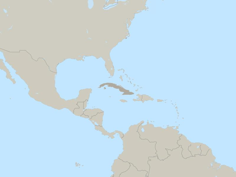 Cuba country page map