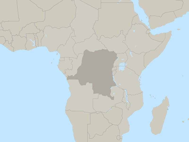 Democratic Republic of Congo country page map