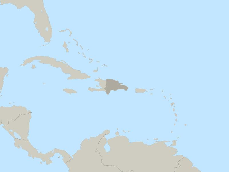 Dominican Republic country page map
