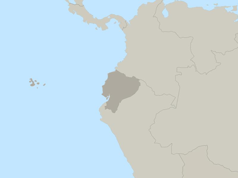 Ecuador country page map