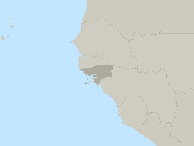 Guinea Bissau country page map