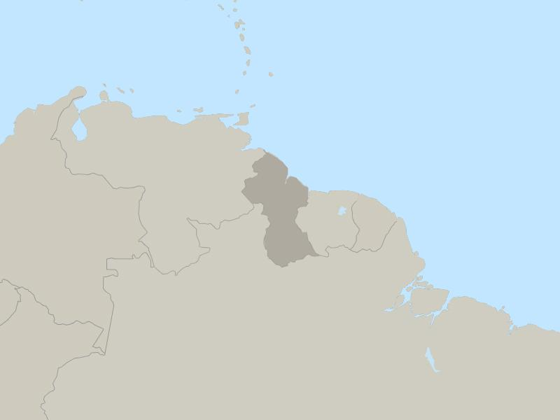 Guyana country page map