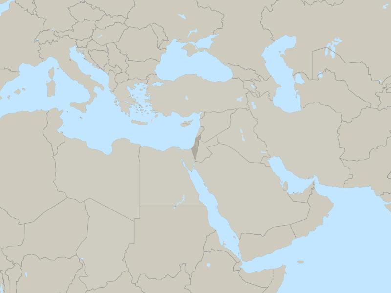 Israel and Palestine country map