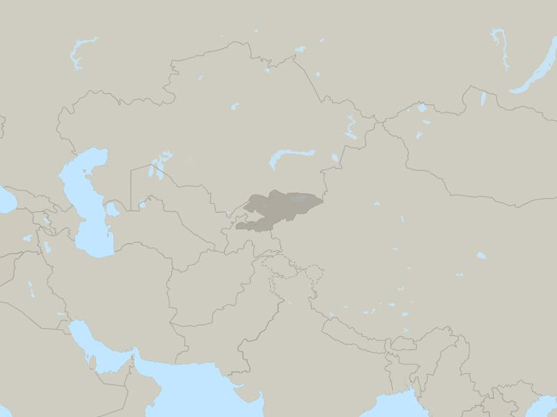 Kyrgyzstan country map