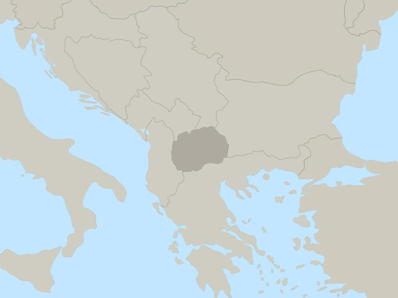 Macedonia country map