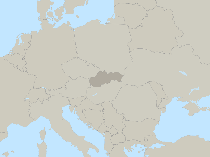 map of Slovak Republic