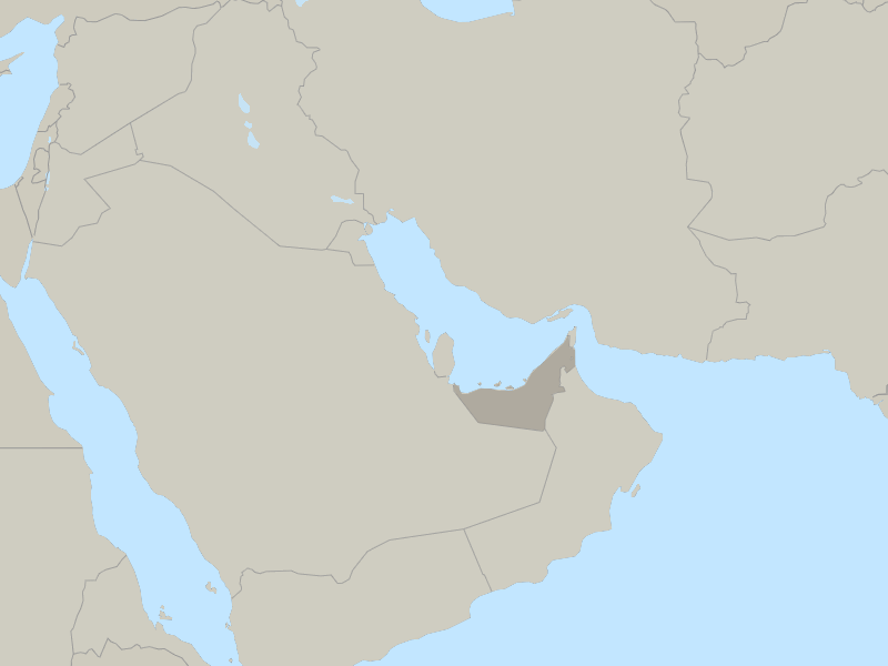 map of UAE