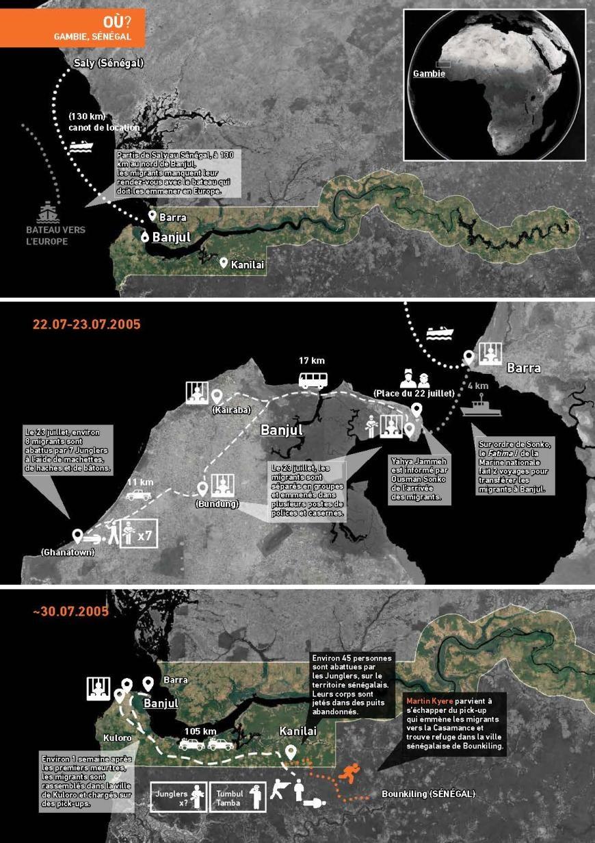 Gambie : Ce que l'on sait sur le massacre de 56 migrants (suite)