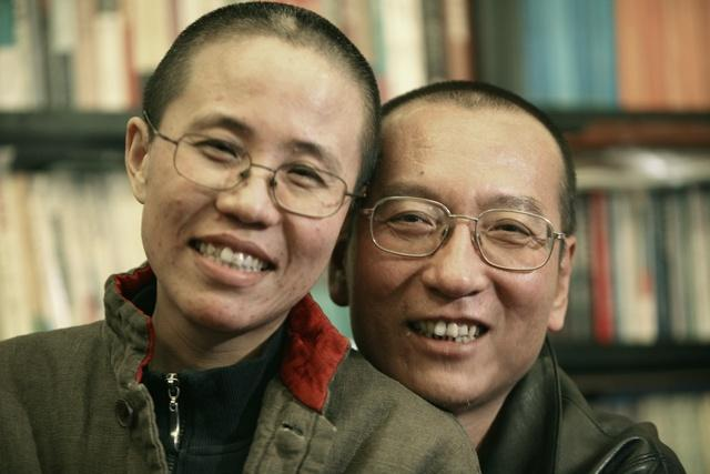 Chinese dissident Liu Xiaobo and his wife, Liu Xia.