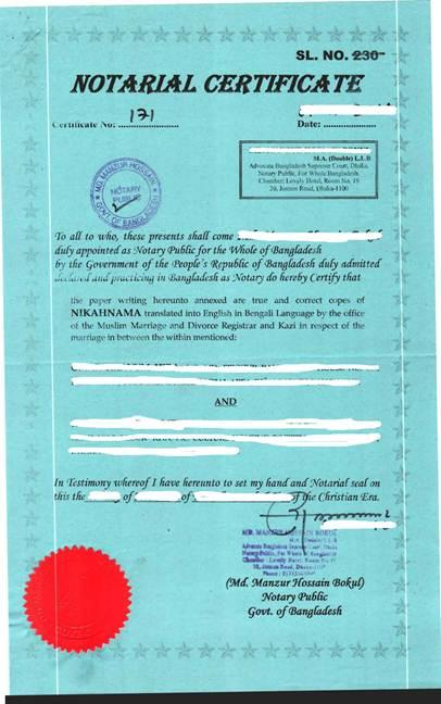 Rules bangladesh marriage Divorce Procedure