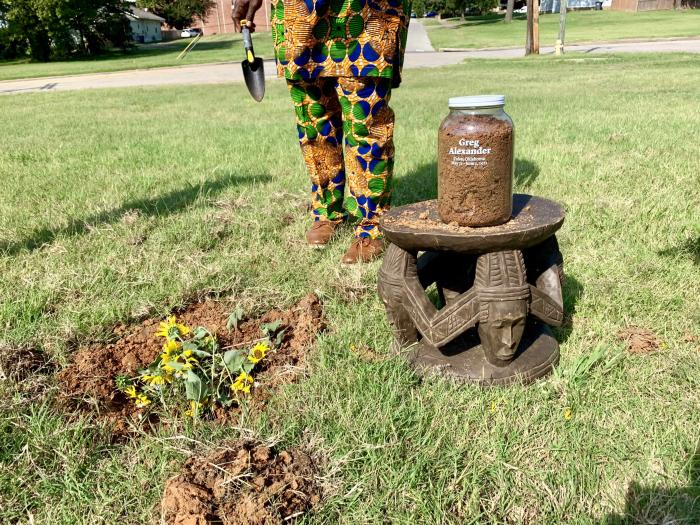 The Tulsa Community Remembrance Coalition invites community members to collect soil from sites where lynching's took place during the Tulsa Massacre as personal memorials and public witness to these crimes.