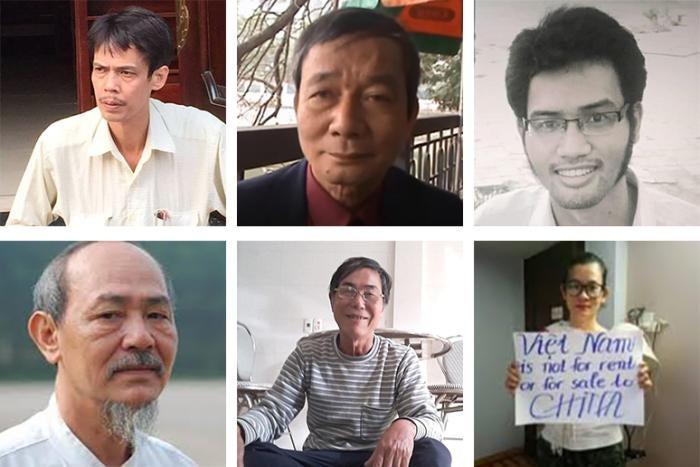 Top row: Pham Chi Dung,Nguyen Tuong Thuy,Le Huu Minh Tuan. Bottom row: Pham Chi Thanh,Tran Duc Thach,Dinh Thi Thu Thuy.