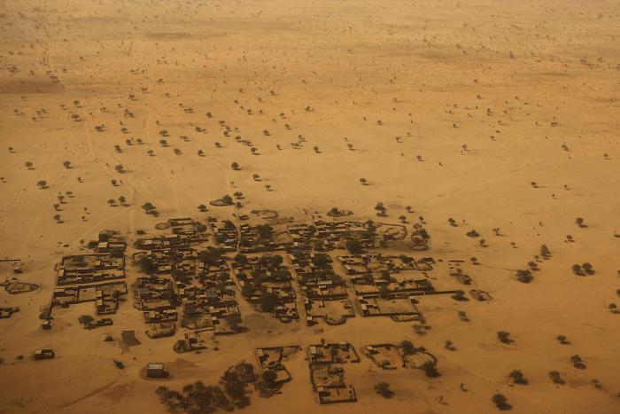 Aerial view of Diffa, southeastern Niger