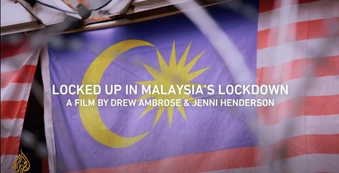 Screenshot from Al Jazeera's Locked Up in Malaysia's Lockdown | 101 East