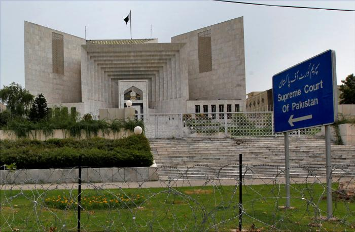 The Supreme court building is seen in Islamabad, Pakistan, July 17, 2017.