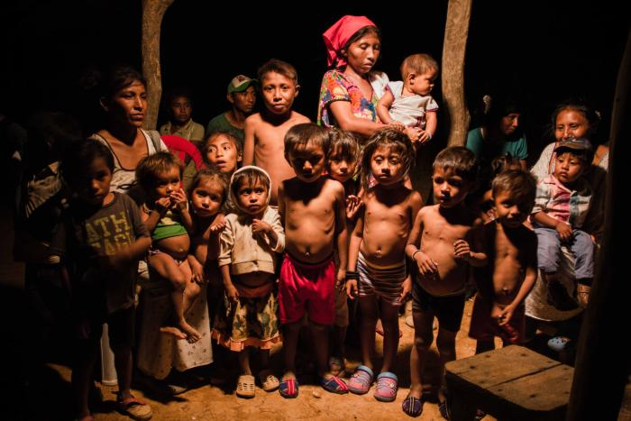 Children in the Laamana community, Uribia, La Guajira, some of whom are malnourished.