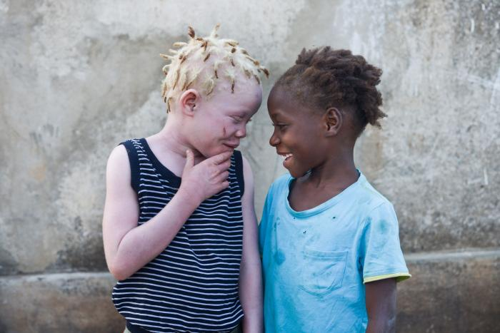 "Photograph of Josina (left) with her niece, Luisa. ""She is my best friend,"" said Josina. ""She is always asking if I'm ok, she helps me read after school and she looks after me."""