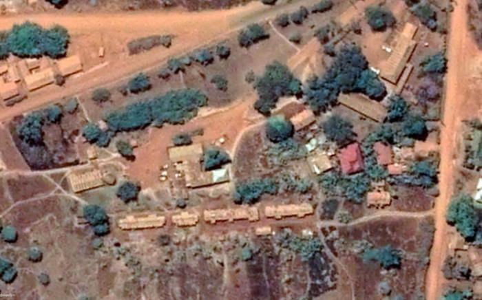 Image satellite du poste de police de Kibondo, au nord-ouest de la Tanzanie.