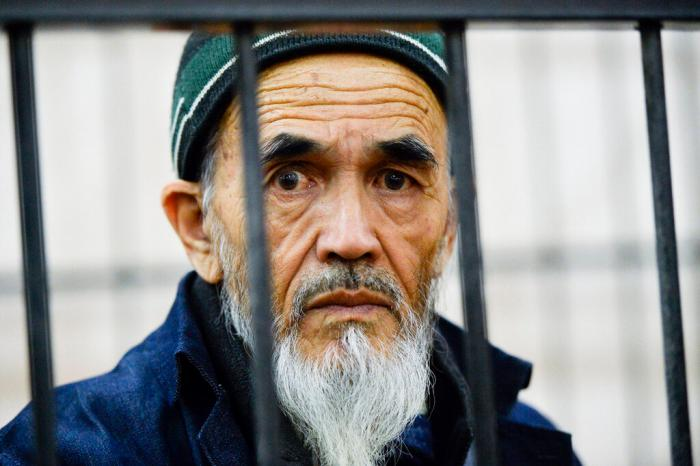 Azimzhan Askarov Pictured here during hearings at the Bishkek regional court, Kyrgyzstan, October 4th, 2016.