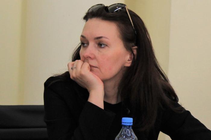 Tatiana Kouzina at a conference in 2019.