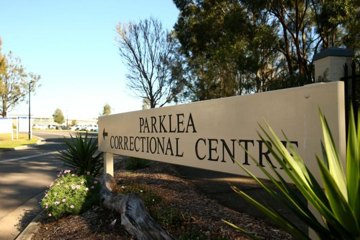 The entry sign to Parklea Correctional Centre in Sydney.