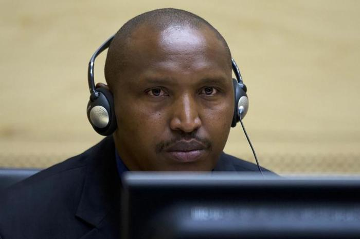 Congolese warlord Bosco Ntaganda looks on during his first appearance before judges at the International Criminal Court in the Hague March 26, 2013.