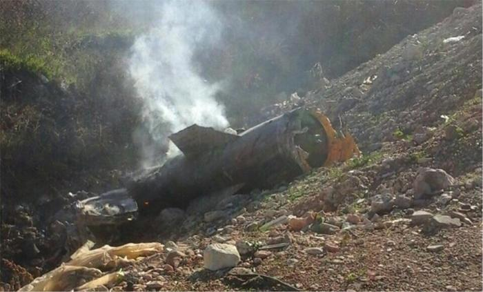 Remnants of 9M79-series Tochka ballistic missile that was used in attack on Al-Najeya village on December 4, 2015.