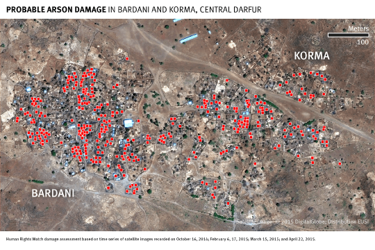 Central Darfur BARDANI Damage Focus Map