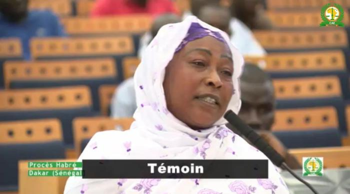 Kaltouma Deffalah testifies during the trial of the former dictator of Chad Hissène Habré in Senegal on October 20, 2015.