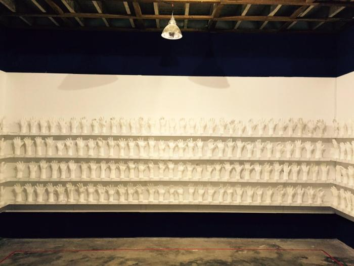 A Show of Hands exhibit by Htein Lin.