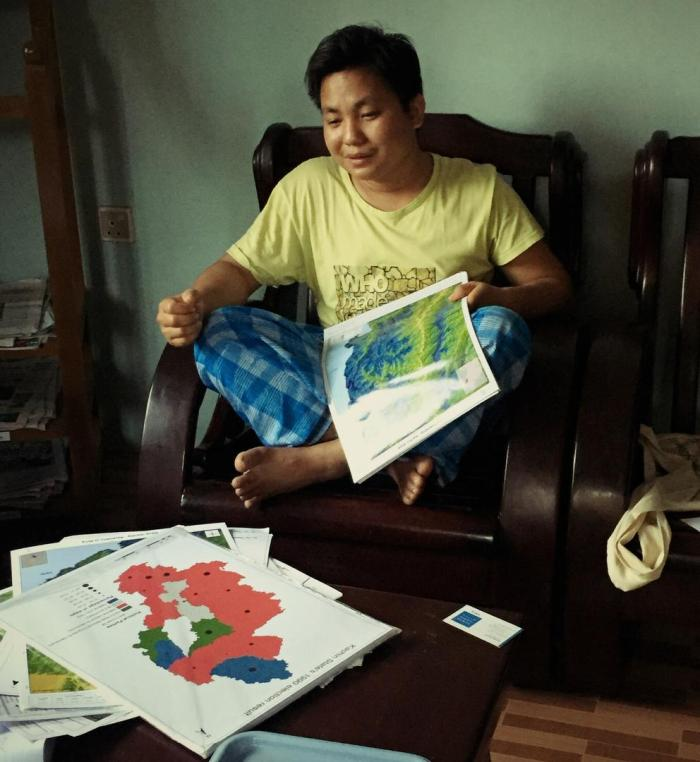Thomas Mung Dan shares maps of areas in Kachin State.