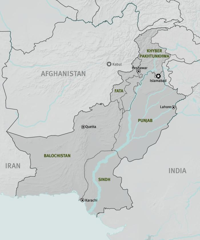 map of pakistan and afghanistan