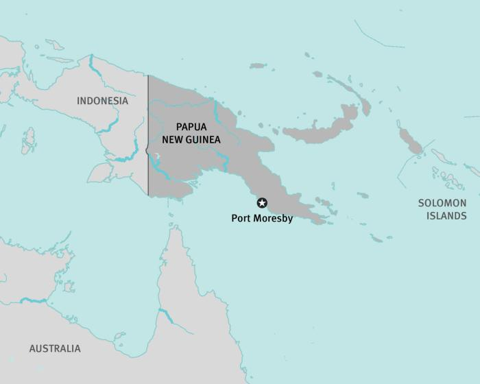 map of papau new guinea