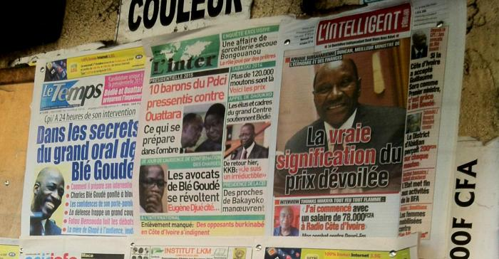 newsstand in Abidjan