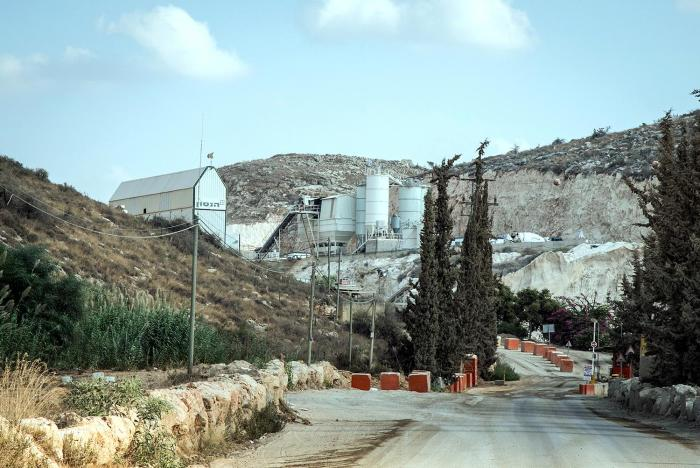 Nahal Rabba quarry, operated by Hanson, a subsidiary of Heidelberg Cement, is one of eleven Israeli- and Internationally-run quarries located in Area C of the West Bank and licensed by the Israeli government. These businesses sell nearly all of the quarri