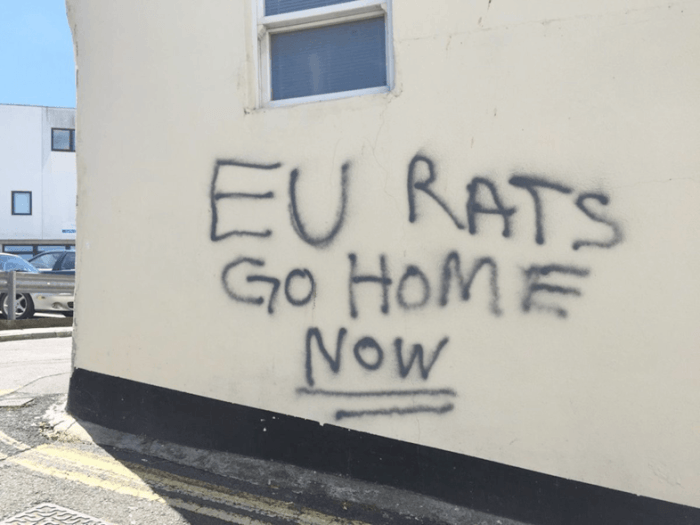 UK Brexit graffiti