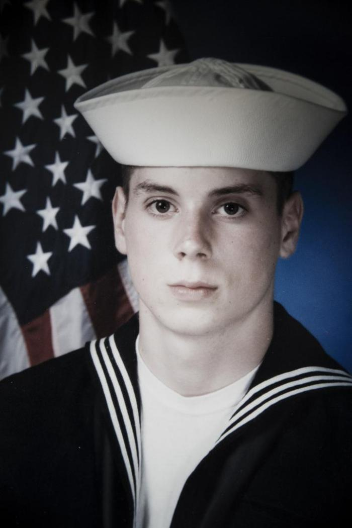Heath Phillips as a 17-year-old Navy Seaman in 1988. He was later given an Other Than Honorable discharge after fleeing his ship to avoid his rapists, and struggled for over 20 years to get medical benefits.