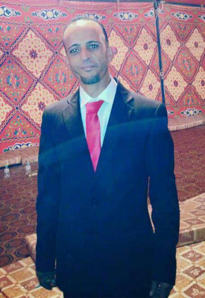 Milad Ahmed Abourgheba was shot dead and hung from scaffolding in an orange jumpsuit by ISIS in Sirte in January 2016. The group labeled him a spy.