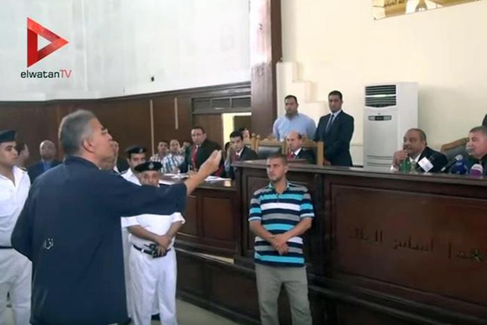 Essam Sultan, a leader of the Wasat Party, complained that while in Scorpion he has not had access to his lawyer or court papers, and did not know why he had been summoned to court that day.