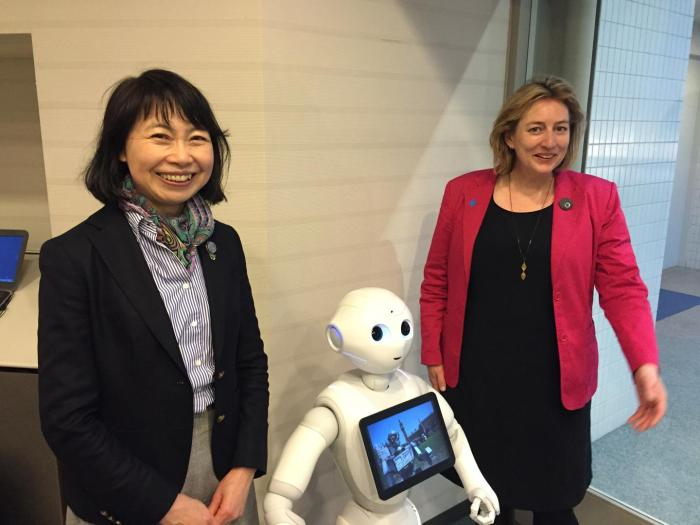 Pepper the robot--shown here at a Campaign to Stop Killer Robots event in Tokyo in March 2016--is made by Aldebaran Robotics (France), whose founder Jerome Monceaux signed the August 2017 open letter from founders of artificial intelligence and robotics c