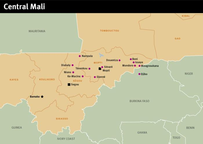 Map of Central Mali, September 2017