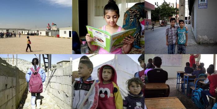 Syrian children and schools in Turkey, Lebanon, and Jordan.