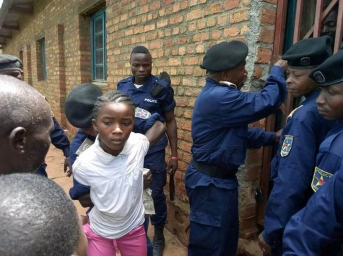 Police arrested 15-year-old Binja Happy Yalala during a peaceful protest in Idjwi, eastern Democratic Republic of Congo, on November 15, 2017.
